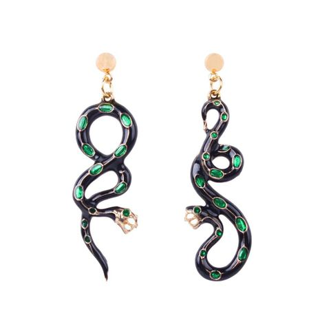 Womens Long Drop Oil Fashion snake shape  Alloy Earrings NHMD120744's discount tags