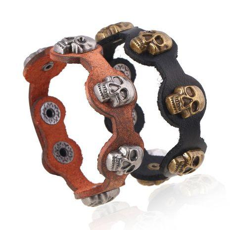 Unisex geometric leather Vintage taro cowhide Bracelets & Bangles NHPK120768's discount tags