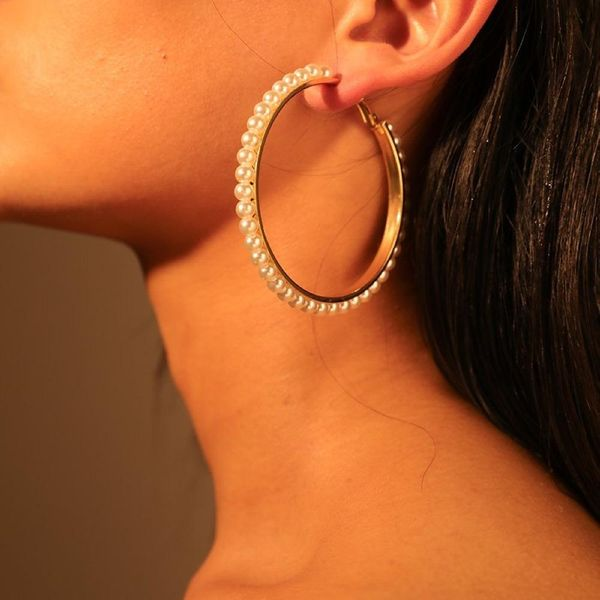 Womens Drop-Shaped Beads Alloy  Beads Earrings NHMD120769