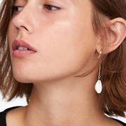 Longues boucles d'oreilles en alliage de placage d'alliage de perles pour femmes NHMD120775