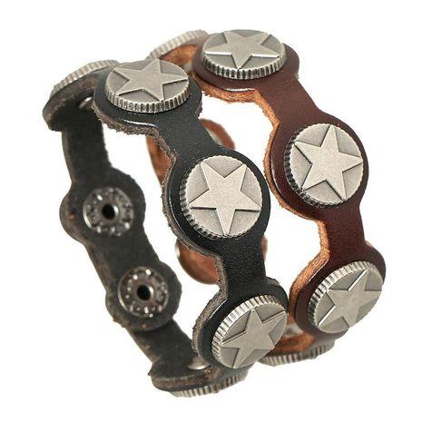 Mens Geometric Leather Bracelets & Bangles NHPK120776's discount tags