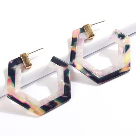 Womens Geometry Electroplating Alloy Earrings NHMD120778's discount tags
