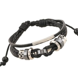 Unisex Geometric Other Leather Vintage weaving  Bracelets & Bangles NHPK120777's discount tags