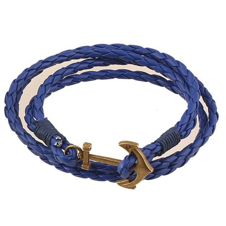 Unisex geometric artificial leather Hand-woven multilayer  Bracelets & Bangles NHPK120787's discount tags