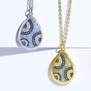 Womens Devils Eye with Zircon Copper Plated 18K Alloy Simple Necklaces NHAS120516
