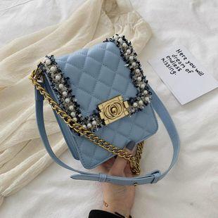 Fashion wild rhombic shoulder messenger bag NHTC125021's discount tags