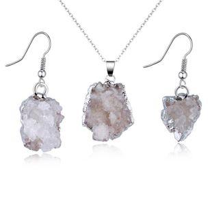 Womens Irregular Natural Stone Jewelry Set NHGO125066's discount tags