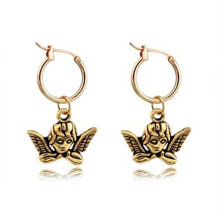 Stylish personality featuring metal opening earrings NHGO125139's discount tags