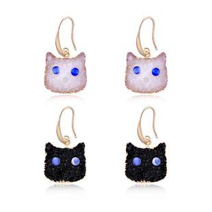 Womens Geometric Plastic Personalized creative cat Earrings NHGO125154's discount tags