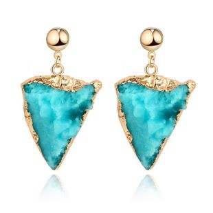 Womens Triangle Plastic / Resin Earrings NHGO125168's discount tags