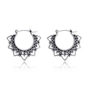 Womens Geometric Hollow heart Metal Earrings NHGO125191's discount tags