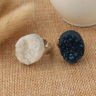 Womens Oval Natural Stone Rings NHGO125196's discount tags