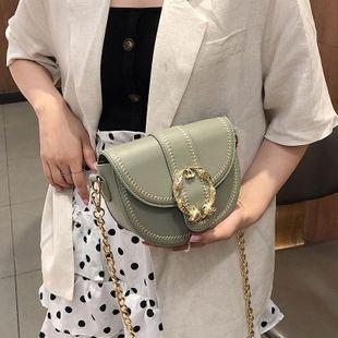 Fashion texture saddle bag Korean version of the wild shoulder Messenger bag NHTC125195's discount tags