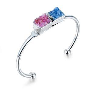 Womens geometric natural stone Bracelets & Bangles NHGO125198's discount tags