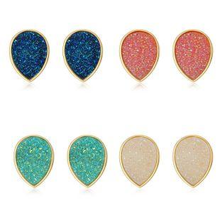 Womens Elliptical Resin Earrings NHGO125200's discount tags