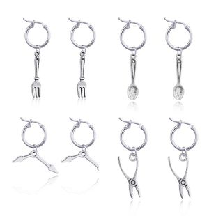 Womens Lifestyle Stainless Steel Earrings NHGO125202's discount tags