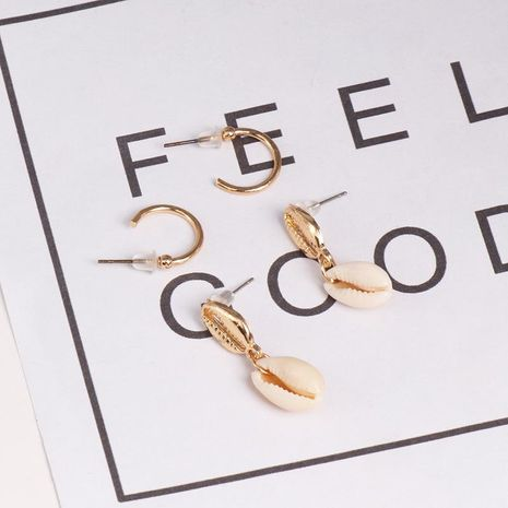 Womens Shell and Shell Mixed Material Earrings NHJJ126340's discount tags