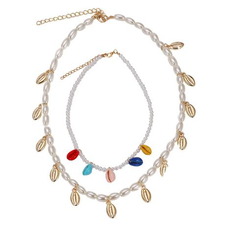 Womens Geometric Beads shell Necklaces NHJQ126411's discount tags
