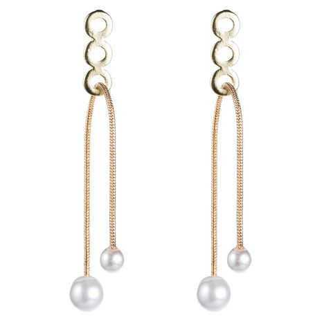 Womens Geometry Long beads Electroplating Alloy Earrings NHJE126445's discount tags