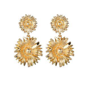 Womens Sun Flower Alloy Earrings NHBQ126446's discount tags