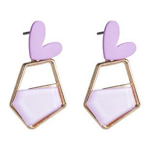 Womens Love Acetate Sheet Earrings NHJE126450's discount tags