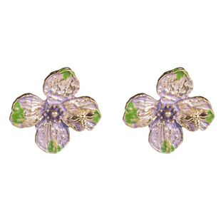 Womens Floral Bee collecting honey flowers Alloy Earrings NHJE126452's discount tags