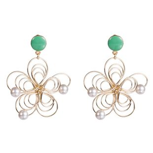 Womens Floral Braided openwork string of beads flowers Drops Oil Earrings NHJE126458's discount tags