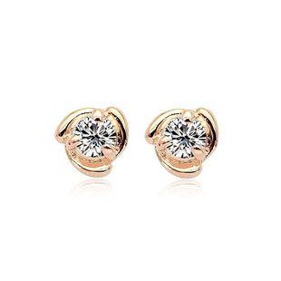 Womens Geometric Plating Alloy Zircon Earrings NHLJ126460's discount tags