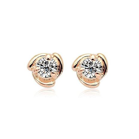 Womens Geometric Plating Alloy Zircon Earrings NHLJ126460's discount tags