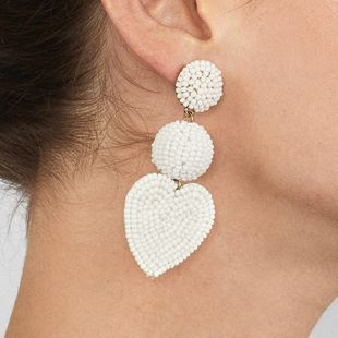 Creative rice beads Heart Shaped Material Earrings NHJJ126462's discount tags