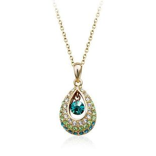 Womens Flower Plating Alloy Regent Necklaces NHLJ126464's discount tags