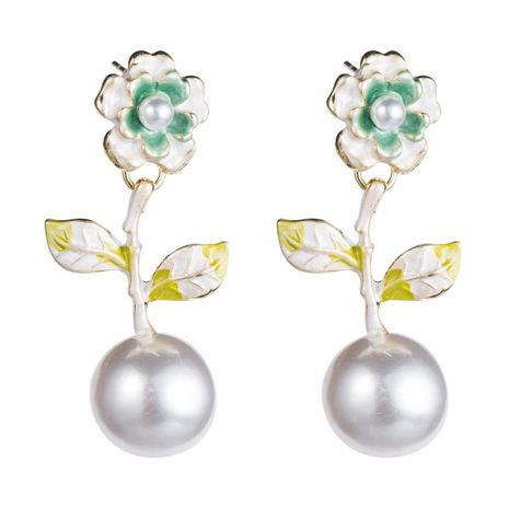 Womens Floral Spray Paint Earrings NHJE126465's discount tags