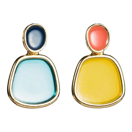 Womens Geometric Resin Earrings NHJE126475's discount tags