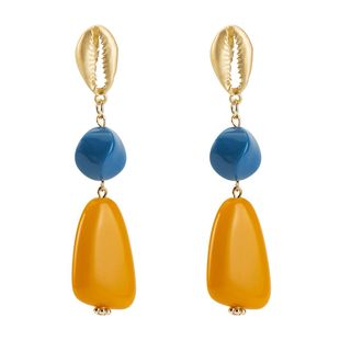 Womens Geometric Resin Earrings NHJE126485's discount tags