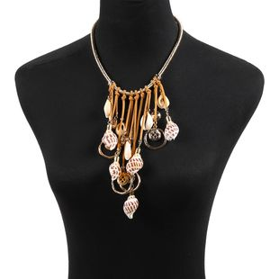 Trend creative shell scallop conch combination Necklaces NHJQ126490's discount tags