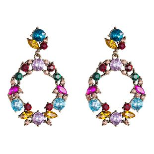 Womens Geometric Hollow geometric rhinestone acrylic Acrylic Earrings NHJE126495's discount tags