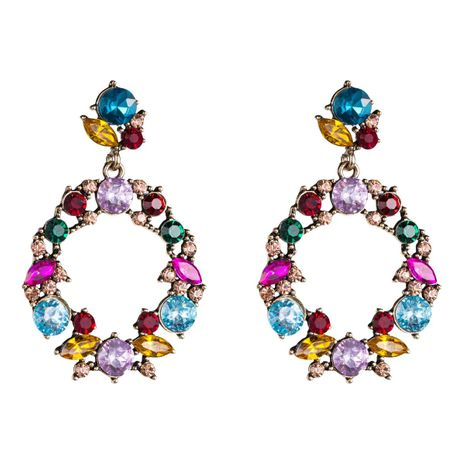 Womens Geometric Hollow geometric rhinestone acrylic Acrylic Earrings NHJE126495's discount tags