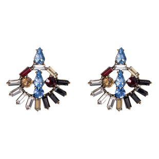 Womens Geometric  Fan-shaped acrylic rhinestone Acrylic Earrings NHJE126500's discount tags