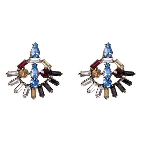 Womens Geometric  Fan-shaped acrylic rhinestone Acrylic Earrings NHJE126500's discount tags
