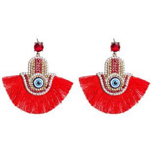 Womens Fan tassel Shaped Acrylic Earrings NHJE126503's discount tags