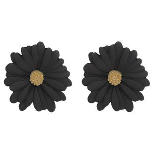 Unisex Floral Chrysanthemum Plating Alloy Earrings NHJQ126509's discount tags
