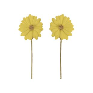 Womens Floral Chrysanthemum Plating Alloy Earrings NHJQ126515's discount tags