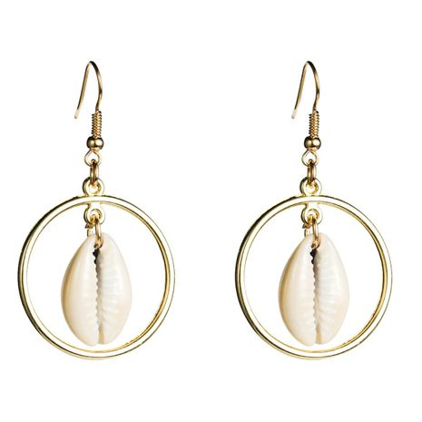 Fashion Retro trend circle shell Earrings NHJE126523's discount tags
