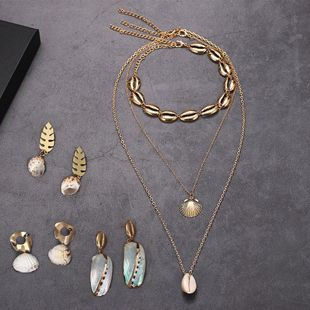 Fashion trend explosion scallop shell necklace NHJQ126529's discount tags