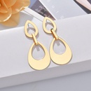 Womens Hollow teardrop plating alloy Earrings NHBQ126330