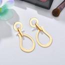 Womens teardrop Openwork water droplets plating alloy Earrings NHBQ126372