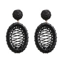 Womens geometric Large circle hollowed out Earrings NHJJ126433