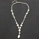 Womens teardropshaped plated Water droplet tassel Necklaces NHCT126441