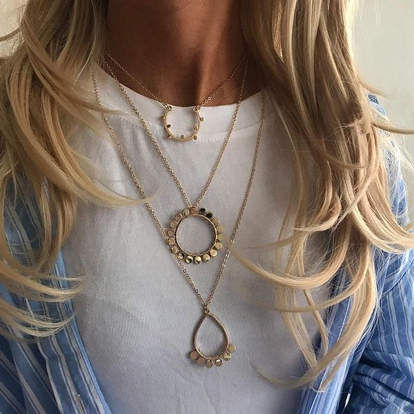 Womens geometric plating alloy Necklaces NHNZ126595