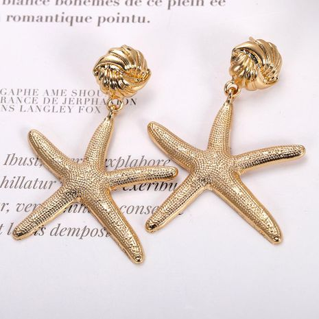 Womens Star Paint Alloy Earrings NHJQ126643's discount tags